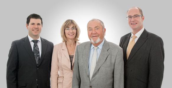 Von links nach rechts: Hannes Künstle, Dagmar Hitzfeld, Dr. Dietrich Reissmann, Herwig Reissmann